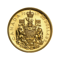 Goldmünze Royal Canadian Mint Zentenarausgabe 1967