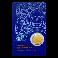 1/10 oz Złoty Krążek 2017 South Korean Chiwoo Cheonwang (Niebieska Wkładka)