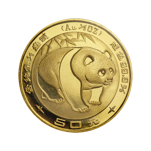 1/2 oz 1983 Chinese Panda Gold Coin