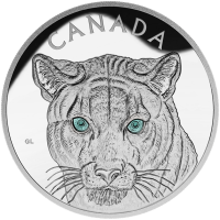 1 kg | kilo 2015 In the Eyes of the Cougar PF70 Ultra Cameo Silver Coin