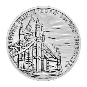 1 oz 2018 Landmarks of Britain   Tower Bridge Silver Coin