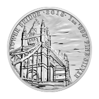 Monumentos de Gran Bretaña 2018 de 1 oz | Moneda de Plata Bridge Tower