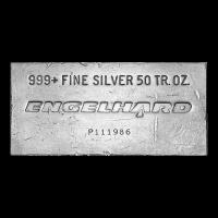 Lingot d'argent ancien Engelhard de 50 onces