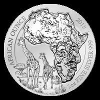 1 oz 2018 Rwanda Afrikansk Sjiraff Sølvmynt