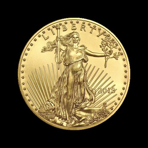 Pièce d'or American Eagle 2018 de 1/2 once