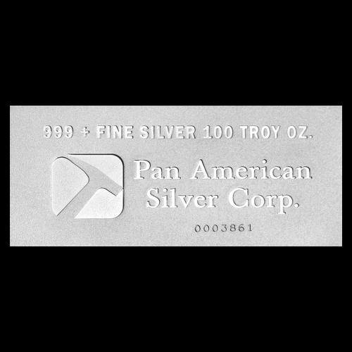 Lingot d'argent Pan American Corp de 100 onces