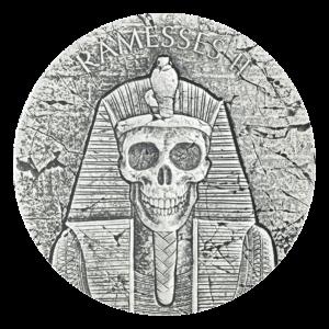 2 oz 2017 Egyptian Relic Serie | Farao Ramesses II - Livet Etter Døden Sølvmynt