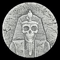 Série Vestiges égyptiens 2017 de 2 onces | Pièce d'argent Pharaon Ramsès II - l'après-vie