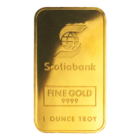 1 oz Johnson Matthey Scotiabank Gold Bar