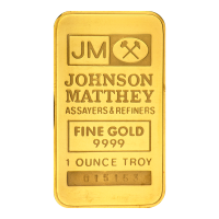 Barra de Oro TB Bank Johnson Matthey de 1 oz