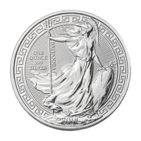 Pièce d'argent Britannia à bordure orientale 2018 de 1 once