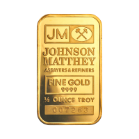 1/2 oz Johnson Matthey Gold Bar