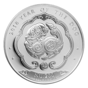 1 oz 2018 Kingdom of Bhutan Lunar Year of the Dog Silver Coin
