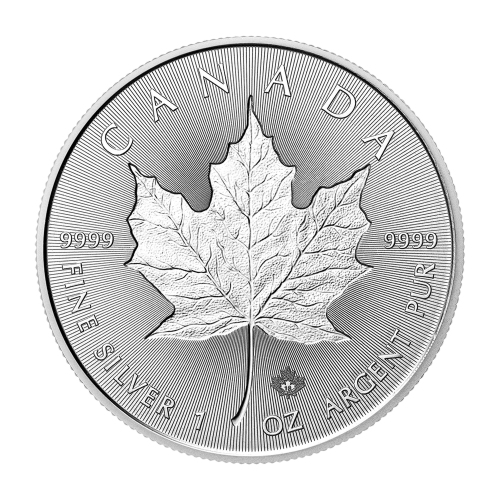 1 oz 2018 Canadian Maple Leaf Double Incuse Silver Coin