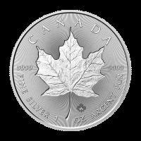 Pièce d'argent Feuille d'érable canadienne bi-incuse 2018 de 1 once