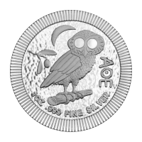 1 oz 2018 Athenian Owl Stackable Silver Coin