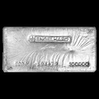 100 oz klassischer Silberbarren Engelhard