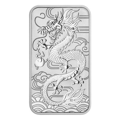 1 oz 2018 Perth Mint Rectangular Dragon Silver Coin