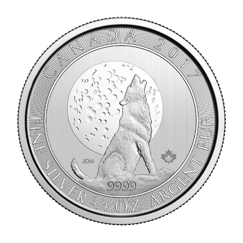 3/4 oz 2017 Wolf Moon Silver Coin