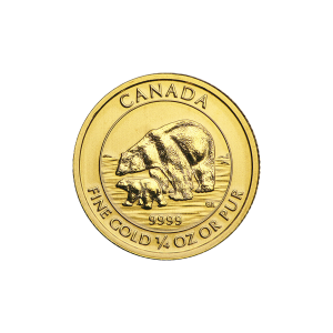 1/4 oz 2015 Canadian Polar Bear and Cub Gold Coin