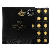 25 g (25 x 1 g) 2018 MapleGram25 Sheet of Gold Coins