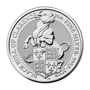 2 oz 2018 Royal Mint Queen's Beasts | Black Bull of Clarence Silver Coin