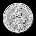 Bestias de la Reina de la Casa de la Moneda Real | Moneda de Plata Toro Negro de Clarence 2018 de 2 oz