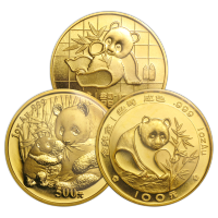 1 oz Goldmünze chinesischer Panda Zufallsjahr
