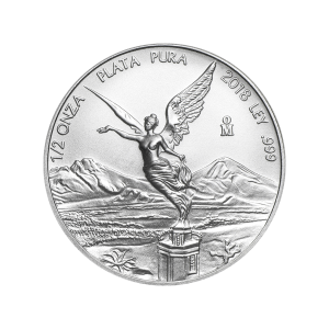 Moneda de Plata Libertad Mexicana 2018 de 1/2 oz