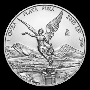 Pièce d'argent Libertad mexicaine 2018 de 1 once