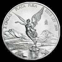 2 oz 2018 Mexican Libertad Silver Coin