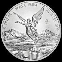 5 oz Silbermünze - mexikanische Libertad - 2018
