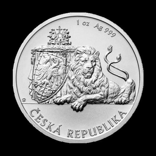 Moneda de plata León Checo Niue 2018 de 1 oz