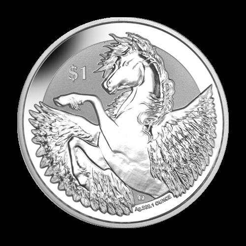 1 oz 2018 British Virgin Islands Pegasus Silver Coin