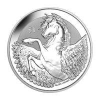 1 oz 2018 British Virgin Islands Pegasus Silver Coin