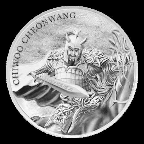 Ronda de Plata Chiwoo Cheonwang Surcoreano 2018 de 1 oz