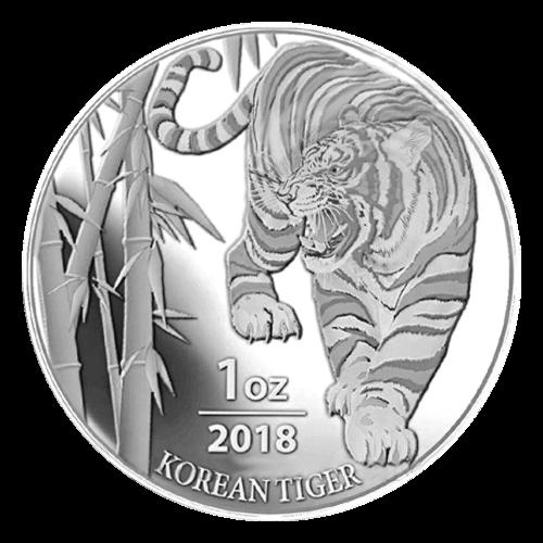 1 oz 2018 South Korean Tiger Silver Round