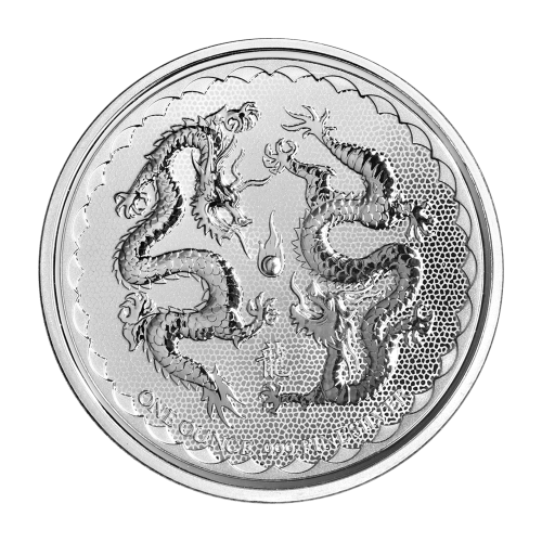 Moneda de Plata Dragón Doble Niue 2018 de 1 oz