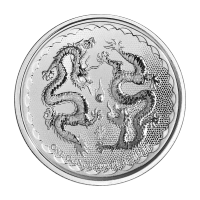 1 oz 2018 Niue Double Dragon Sølvmynt