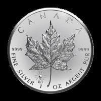 1 أوقية 2018 عملة فضية لورقة القيقب الكندية بها العلامة الخاصة للمبة مضاءة في الوجه الخلفي