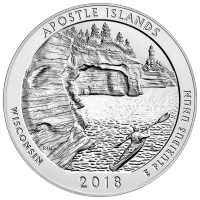 5 oz 2018 America the Beautiful | Apostle Islands Silver Coin