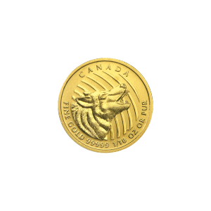 1/10 oz 2015 Call of the Wild Series   Howling Wolf Gold Coin