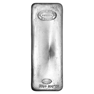 100 oz Johnson Matthey and Mallory Vintage Silver Bar