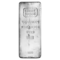 100 oz Credit Suisse Silver Bar