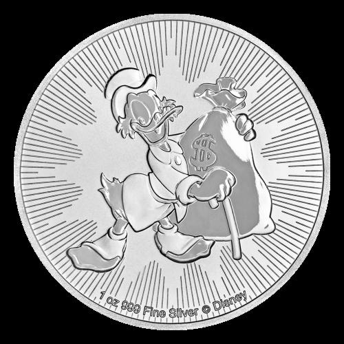 Pièce d'argent Scrooge McDuck de Disney 2018 de 1 once
