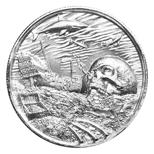 Colección Corsario | Ronda de Plata Ultra Relieve Davy Jones Locker de 2 oz