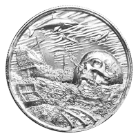 Colección Corsarios | Ronda de plata de ultra alto relieve Davy Jones Locker de 2 onzas