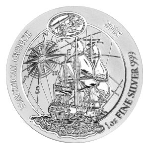 1 oz Silbermünze Nautical HMS Endeavour Ruanda 2018