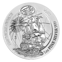 1 oz 2018 Rwanda Nautical HMS Endeavour Silver Coin