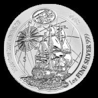 Pièce d'argent nautique HMS Endeavour du Rwanda 2018 de 1 once
